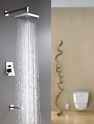 espolvorear ® por lightinthebox - montaje en pared contemporáneo cromo lluvia grifo de la ducha