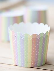 Rainbow StyleStripe Cupcake Wrapper-Set of 50