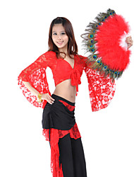 Dance Accessory Feather Belly Dance Folding Hand Fan For Ladies
