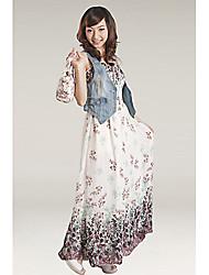 Frauen Strap Flare Midi-Kleid