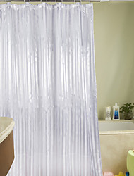 "Shower Curtain Polyester White Stripes Print Thick Fabric Water-Resistant W71"" x L71"""