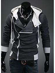 Duolunduo Men's Slim Hoodie Cardigan Sweater(Dark Gray)