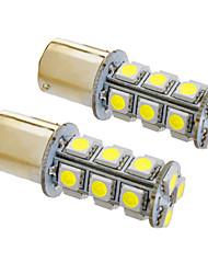 BA15s / 1156 4w 18x5050smd 330lm 5500-6500k lumière blanche froide ampoule led pour voiture (12v, 2pcs)