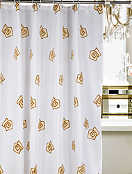 Shower Curtain Polyester Yellow Roses Water-resistant Thick Fabric-2 Sizes Available