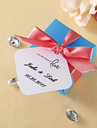 Personalized Favor Tags - All you need is love (set of 36)