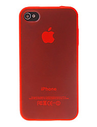 Gennemsigtig TPU hårdt etui til iPhone 4/4S (assorterede farver)