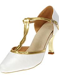 Customizable Women's Dance Shoes Modern/Ballroom Satin Customized Heel Black