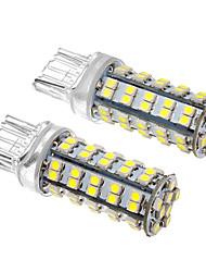 2 Pcs T20 4W 68x3528SMD 330-360LM 6000K Cool White LED Light Bulb Milho (12V)