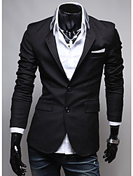 Seey Men's Black Cloth Pocket Personality  Suit