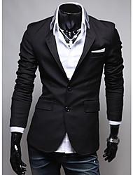 Tissu noir Pocket personnalité Costumes Seey hommes