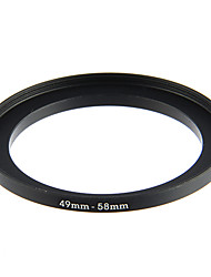 49-58mm Anodized Aluminum Step-up Ring Adapter for Cameras (Black)