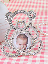 "4"" Bear Photo Frame With Rhinestone"