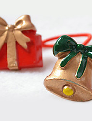 Cute Christmas Bell Gift Box Style Hair Ring for Pets Dogs