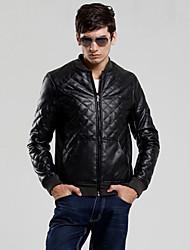 Fique Collar Jacket casual masculino