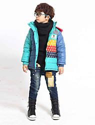 Contraste Couleur Star Print manteau de garçon