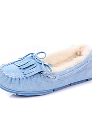 IG.SHOES Komfortable Warm Genuines Velvet-Leder-Schuhe (Blau)