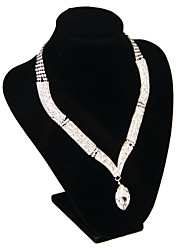 Jewelry Set Women's Wedding / Engagement / Special Occasion Jewelry Sets Alloy Rhinestone Necklaces / Earrings As the Picture