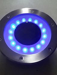 energia solar de aço inox luzes subterrâneas, com 12 luzes LED em volta