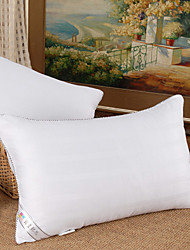 100% Cotton 5% Silk Soft White Bed Pillow
