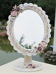 """11 """"Country Style floral Polyresin table Mirror européenne"""