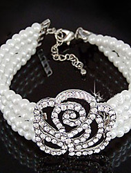 Women's Charm/Persona Beads Collection Bracelet Alloy Imitation Pearl/Rhinestone