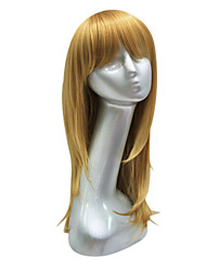 Capless Synthetic Brown Long Straight Hair Wig