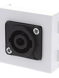 XLR Female Wall Plate Coupler Type Ivory