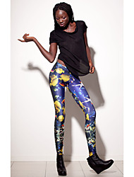 Women's Casual Pants , Spandex/Lycra Stretchy Blue