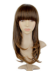 Capless Heat Resisitant Fiber Short Curly Hair Neat Bang Wigs for Women