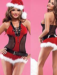 Christmas Costume Sexy Girl Midriff da Mulher