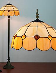 Mongolian Yurt Decoration Floor Lamp, 2 Light, Tiffany Resin Glass Painting Process