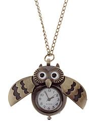 Masculino / Mulheres / Unissex Relógio de Bolso Quartz Banda Vintage Bronze marca-