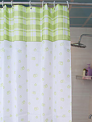 Shower Curtain Country Style Light Green W78 x L71""