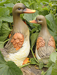"16.5 ""Lighting And Duck Sounding famille Polyresin Collectibles (4 Pcs Set)"