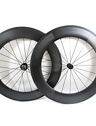 Farsports-700c Road 88mm Full Carbon Clincher Road Bicycle Wheels