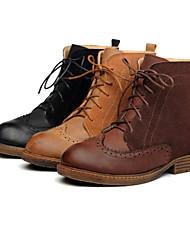 Cuir Suede / Faux talon plat combat Bottines / Boots (plus de couleurs)