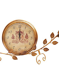 "21""Country Type Analog Metal Tabletop Clock"