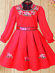 Girl's Stand Collar Princess Dress