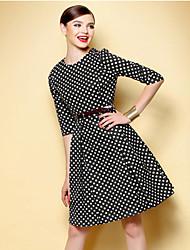 TS Vintage Polka Dot Swing Dress(Belt Inc.)