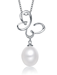 Pure Women's 9-10mm Natural Pearl 925Silver Pendant Excl.Chain PE0073W026290