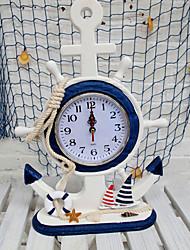 "14 ""Moderno Tipo Mediterráneo Oriental Style Sail Boat Reloj sobremesa"