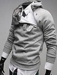 Luxo Tops velo Engrosse com capuz Homens Shangdu (cinza claro)