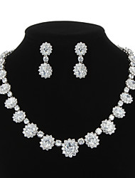 Jewelry Set Women's Anniversary / Wedding / Engagement / Birthday / Gift / Party / Special Occasion Jewelry Sets Cubic ZirconiaAs the