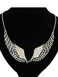 Loving Angel Wing With Rhinestone Necklace