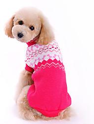 Cães Súeters Rosa Roupas para Cães Inverno Laço Da Moda