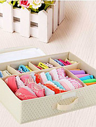 6 Cells Stylish Bra and Socks Storage Box-4 Colours Available