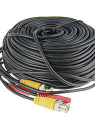 125 Foot (40 Meter) All-in-One BNC Video and Power Cable with Connectors