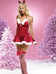 Christmas Costume veados Garota Red Velvet da Mulher