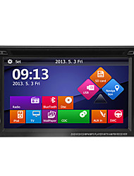 "6.2 ""2DIN lcd touch screen in-dash bil dvd-afspiller med gps, bluetooth, ipod, ATV + gratis bakkamera"