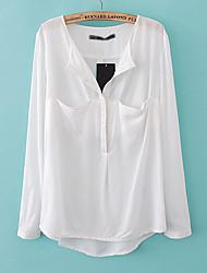 EDINO escuro solto bolso da camisa (branca)
